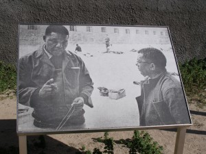 Nelson Mandela- photo on Robben Island