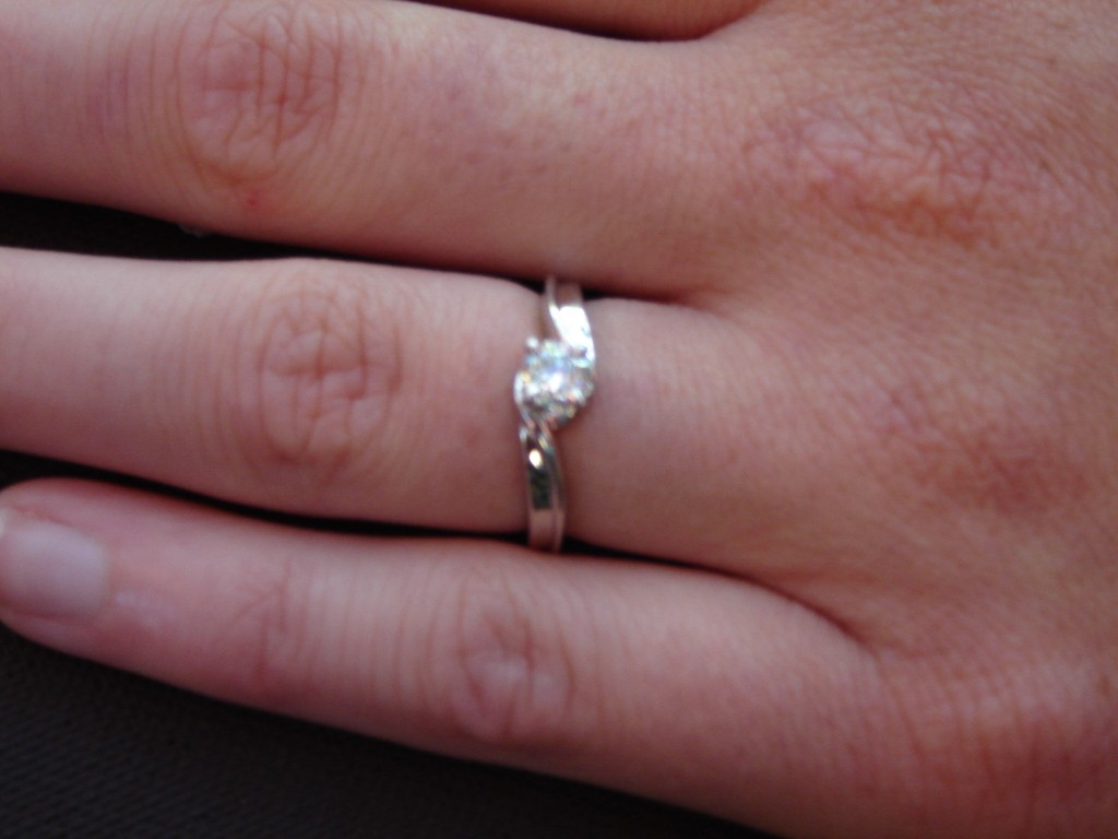 My engagement ring (photo by Naomi Krueger)