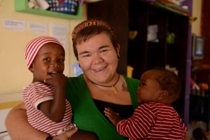 Kelly Gilbert is a full time volunteer at an orphanage in Tanzania. Photo by Stina Gränfors
