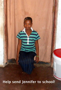 Change the world for this twelve-year-old girl. Send her to school. (Photo courtesy of Kelly Gilbert.)