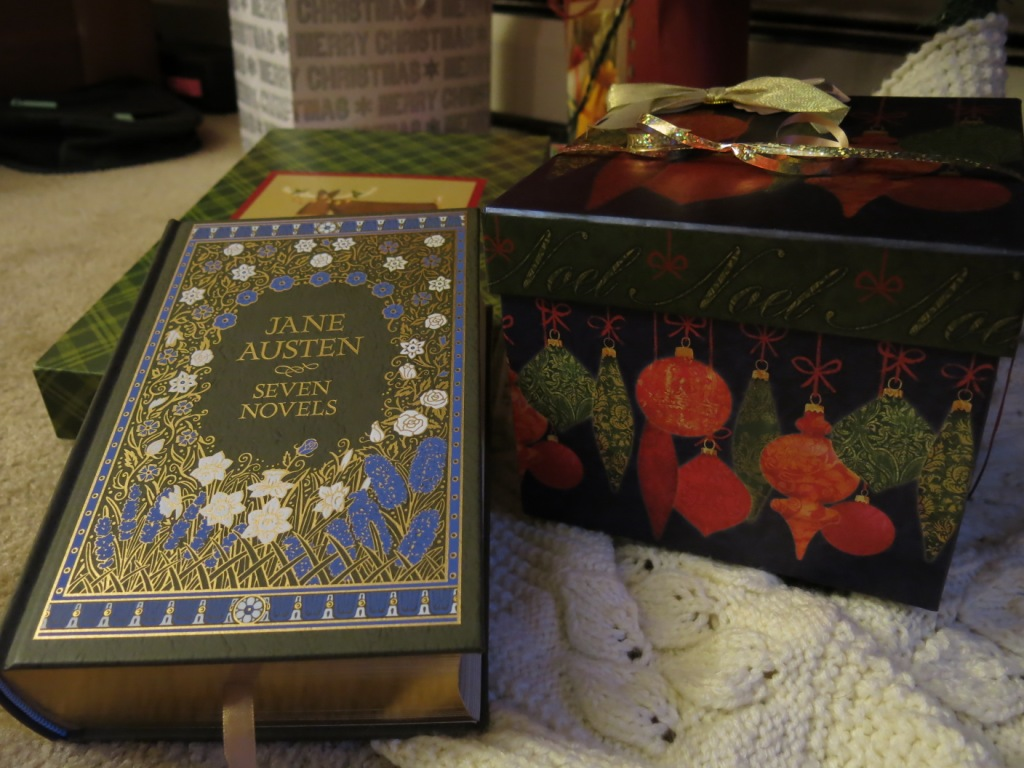 A collection of Jane Austen's seven novels. Photo by Naomi Krueger