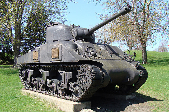 Old Army Tank in Redwood Falls, MN. Photo courtesy of Doug Wallick on Filkr.
