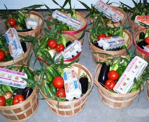 CSA baskets. Photo from www.localharvest.org