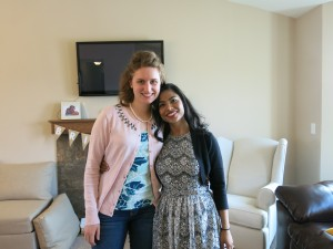 Me and my friend Chandra at her bridal shower.