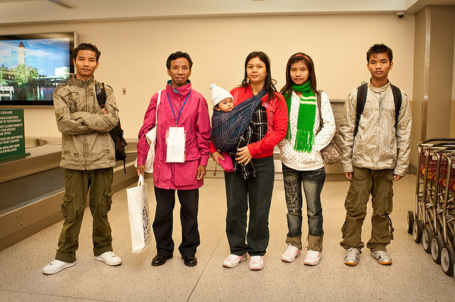 Refugees from Burma arriving in Spokane, WA. Photo by World Relief, Spokane. Used with permission under the Creative Commons License.