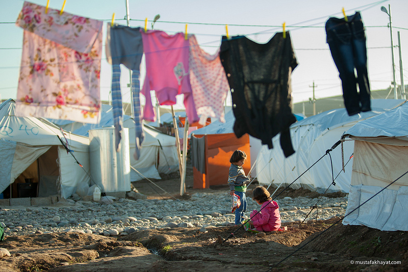 Syrian refugee camp, Karkosik Erbil. Photo by Mustafa Khayat, used with permission under a Creative Commons License